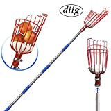 diig Fruit Picker, 5.5-Foot Fruit Picker Tool with Stainless Steel Connecting Pole, Fruit Picking Equipment for Getting Fruits Lemons, Apples, Guavas, Avocados, Pears, Mangoes, Oranges, Citrus