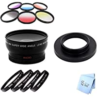 SAVEon filter kit for theb GoPro Hero4, Wideangle Lens with Color Filters and Macro Filters 37MM