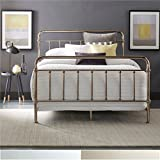 silver bedroom furniture sets. iNSPIRE Q Giselle Graceful Lines Victorian Metallic King sized Metal Bed by  Bold Silver Chrome Finish Amazon com Bedroom Sets Furniture Home Kitchen