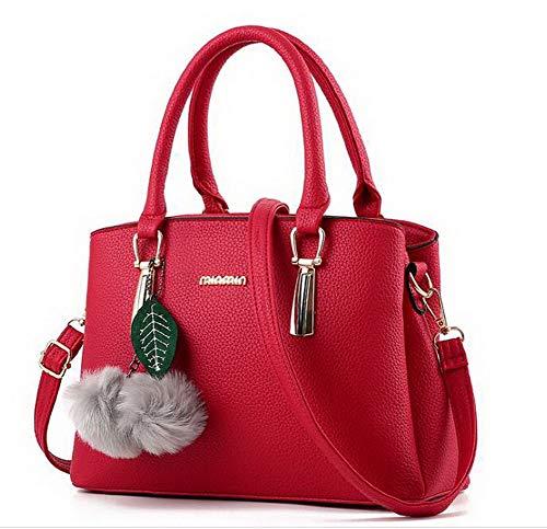 Tote VogueZone009 tracolla Cotone Donna Style Borse Rosa Rosso Weekend fughe Poli CCALBO181945 Moda a rqIwrZF