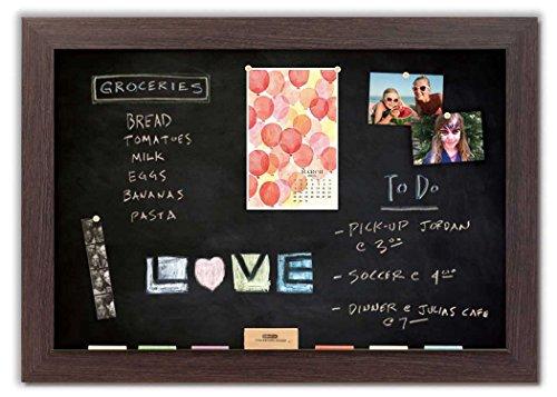 Magnetic Chalkboard with Boardwalk Frame by The Cork Board Shop