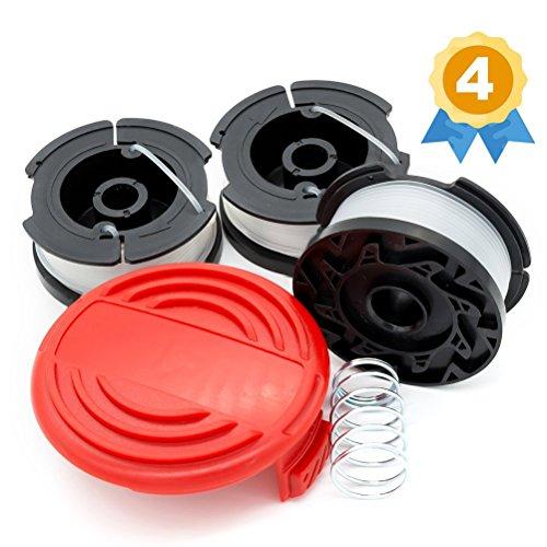 Garden Ninja Replacement Trimmer Spool Compatible with Black+Decker AF-100, 3-Spool with 1 Cap by Garden Ninja