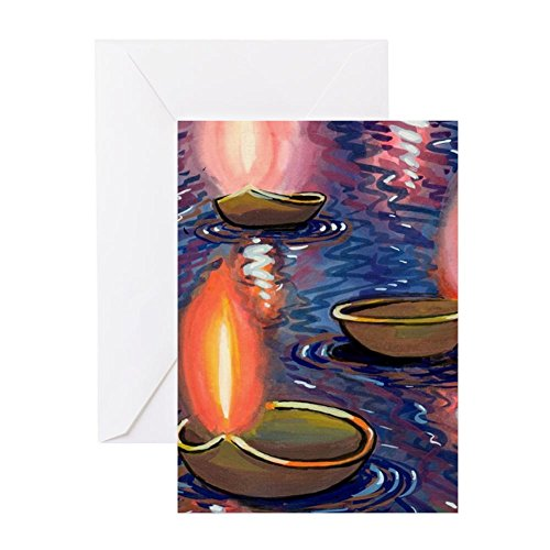 Diwali Cards (CafePress - Diw_Cards - Greeting Card (20-pack), Note Card with Blank Inside, Birthday Card Matte)