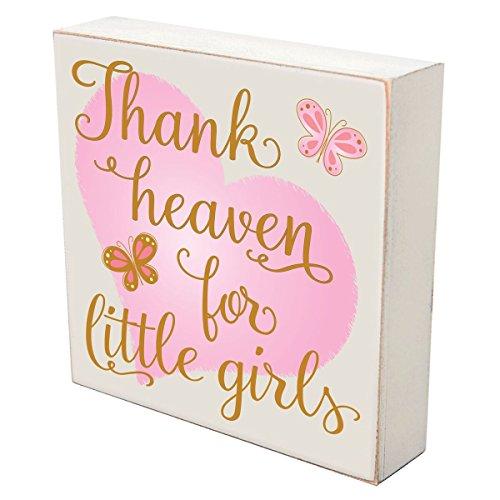LifeSong Milestones Thank Heaven for Little Girls Wall Art Decor Print Sign Decoration 6