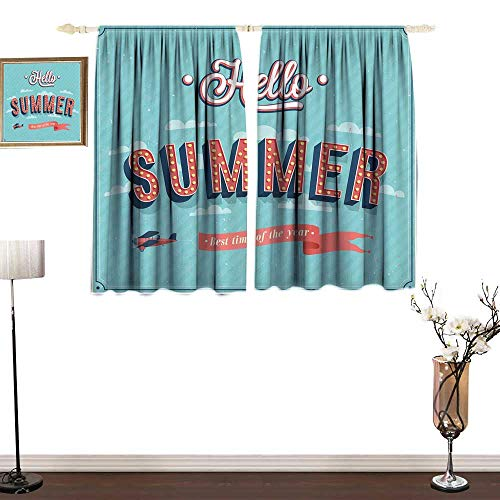 Used, RenteriaDecor Hello Drapes Girls Vintage Style Summer for sale  Delivered anywhere in USA