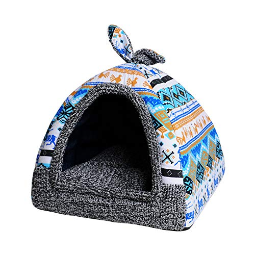 Spring Fever Rabbit Dog Cat Pet Bed Small Big Animal Snuggle Puppy Supplies Indoor Water Resistant Beds M (13.713.715.7 inch)