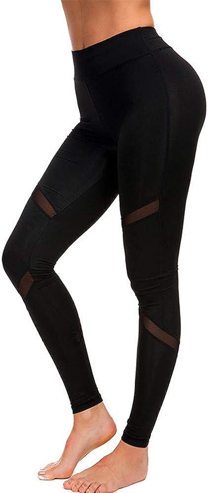 Mibuy Leggings Sin Costuras Corte De Malla Mujer Pantalon Deportivo Alta Cintura Yoga El/ásticos Fitness Seamless Pantalones Medias El/ásticas Skinny Slim Yoga Ni/ñas Stretch Leggings