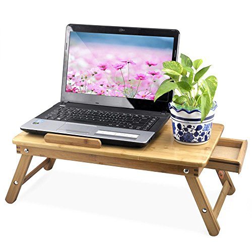 Portable Bamboo Laptop Desk Folding Laptop Notebook Computer Desk Bed Tray Table (Office Chair With Tray compare prices)