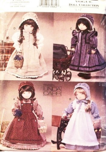 Vogue 7564 - 18-Inch Doll Prairie Clothing - Patterns for 4 Outfits (Vogue Doll Collection) ()