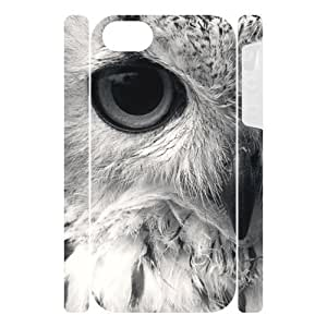 Canting_Good Retro Owl Custom Dual-Protective Case Cover Shell for IPhone 5 3D (New)