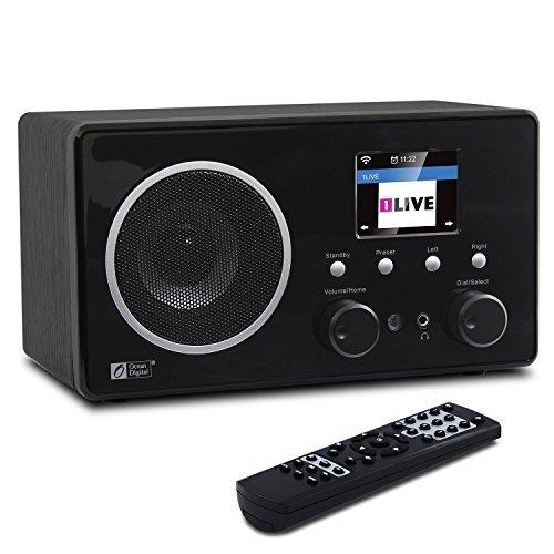 Ocean Digital Internet Radio WiFi Music Player WR282CD - FM Radios Antenna Tuner, Bluetooth Digital Receiver with 3.5mm Aux-in - Alarm Clock