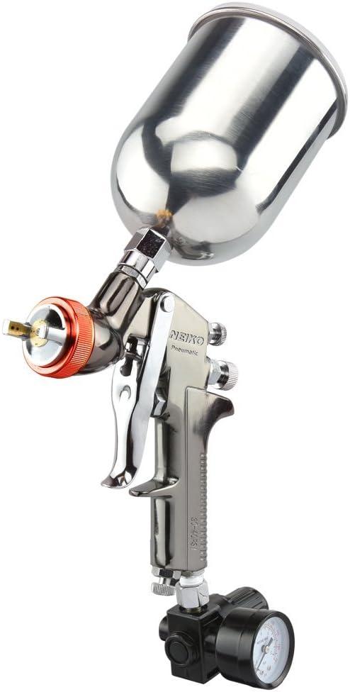Neiko 31216A HVLP Gravity Feed Air Spray Gun, 2.0 mm Nozzle Size, 600 cc Aluminum Cup, 2.0 mm nozzle