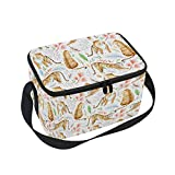 Best Tiger Mens Lunch Boxes - Lunch Bag Tote Bag Tiger Floral Lunch Box Review
