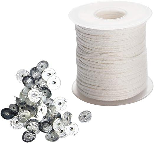 HEALLILY mecha trenzada de algodón con pestañas de mecha material ...
