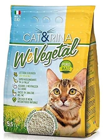 Arenero ecológica antibacteriano 100% vegetal agglomerante con aceite de neem Cat & Rina We vegetal