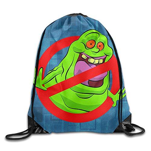 Ghostbusters Slimer Logo Sack Bag Drawstring Backpack Sport Bag ()