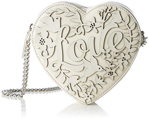 kaviar gauche Love Heart Bag - Bolso de hombro Mujer Elfenbein (ivory/silver)