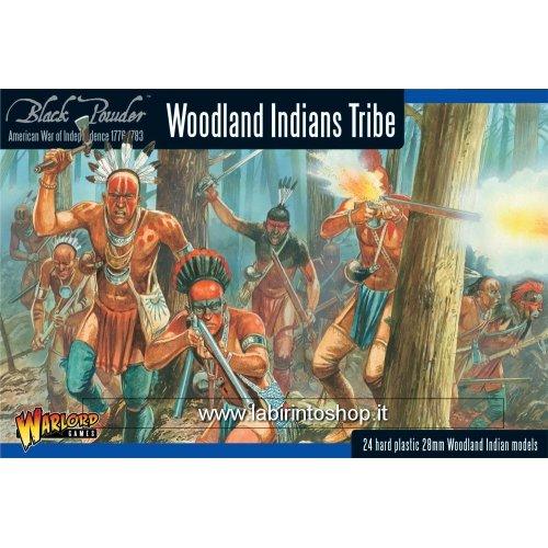 Black Powder Revolutionary War Native American Woodland Indians Tribe 1:56 Military Wargaming Plastic Model Kit
