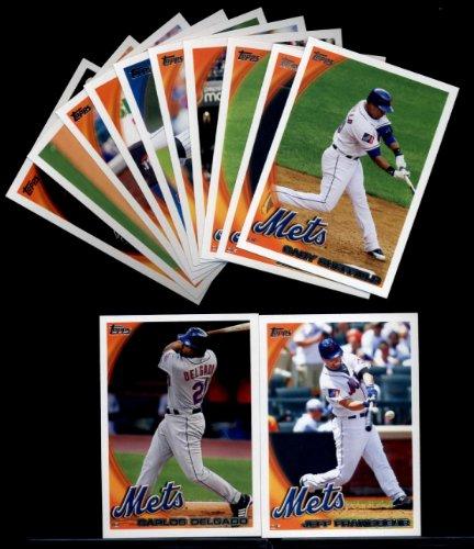 2010 Topps Baseball Cards Complete TEAM SET: New York Mets (Series 1 & 2) 24 Cards including Reyes, Mejia, Santana, Beltran, Maine, Stoner, Wright, Murphy, Sheffield & more!