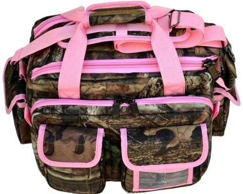 Explorer Tactical Padded Gun Range Multipurpose Bag Mossy Oak Hunting Luggage Travel Bag Mossy Oak -Realtree Outdoor Like- Hunting Camo Heavy Duty Rolling Duffel Bag with Pulling Handle