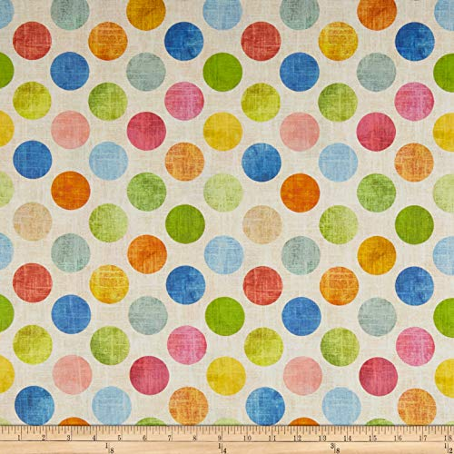 Hoffman Fabrics Hoffman Digital All A Twitter 108'' Wide Back Large Dots Fabric, 1, Citrus, Fabric by the Yard