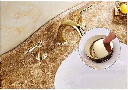 FLAMEER 浴室の無駄は押しボタンの洗面器の細長かった真鍮のクロムプラグの無駄を現れます