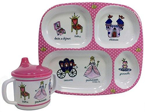 UPC 735548360346, Baby Cie Princess, Melamine Plate & Sippy Cup - 2 Piece Set