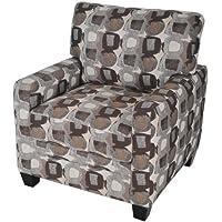 Serta San Paolo/Santa Cruz Collection Arm Accent Chair, Martini-Coconut Pattern, CR43551