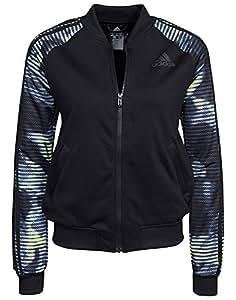 adidas Tracktop Jacket - Sudadera para Mujer, Color Negro/Azul / Amarillo, Talla S: Amazon.es: Deportes y aire libre
