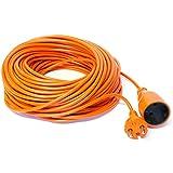 Cavo di prolunga per il giardino, 10-15-20-25-30-40-50m colore: arancione