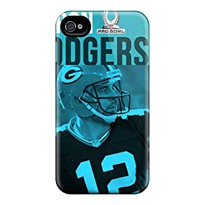 MiniBeauty Snap On Hard Case Cover Aaron Rodger Pro Bowl Nfl Player Protector For Iphone 4/4s