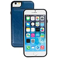 Good Style Apple iphone 6 Case cover, Apple iPhone 6 Blue Designer 2-1 Multi-function Detachable Magnetic 3 Card Slots Wallet Style Wallet Case Cover