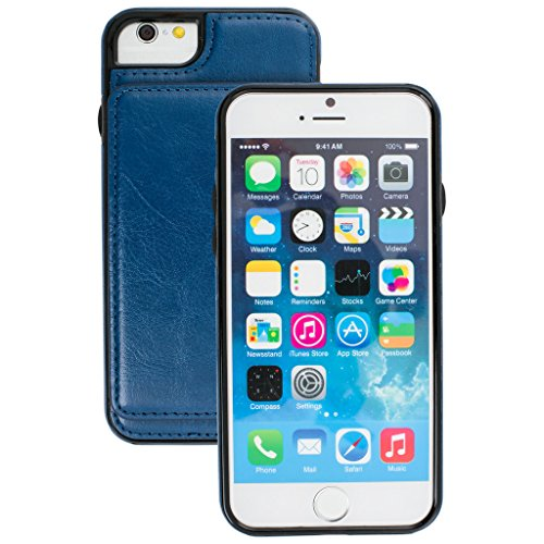 Best Case Case Card Style Blue Apple Cover 1 Apple Multi iPhone Detachable Wallet Quality 6s 6s Wallet 2 3 cover iphone Designer function Slots Magnetic wIrI4q