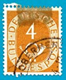 Used German Postage Stamp %281951%29 4 p