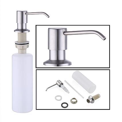 KES Dispensador de Jabón con Bomba de 18-8 Acero Inoxidable y Botella de PP, Cepillado, PSD1-2: Amazon.es: Bricolaje y herramientas