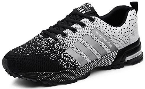 Confort De Sneakers Femmes Athlétique Baskets Hommes Course Chaussures Noir Respirant Sport Semelle Air Coussin zqUqwHxt