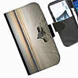 Hairyworm - Baby turtle on beach heading to the sea Acer Liquid Z220 leather side flip wallet cell phone case, cover with card slots, money slot and magnetic clasp to close.