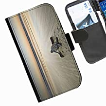 Hairyworm - Baby turtle on beach heading to the sea Sony Xperia E3 (D2203, D2206, D2243, D2202) leather side flip wallet cell phone case, cover with card slots, money slot and magnetic clasp to close.