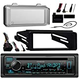 Kenwood Bluetooth Radio USB AUX CD Player Receiver w/ Cover - Bundle with Install Dash Kit