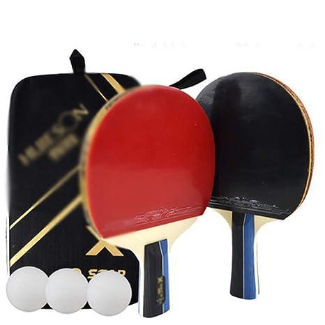 Xianw 2 Premium Set - Juego De Tenis De Mesa con 3 Paletas De Ping ...