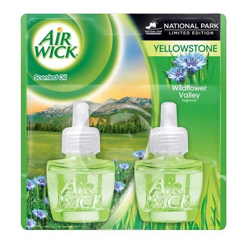 Air Wick Scented Oil Refill - Limited Edition Yellowstone National Park - Wildflower Valley - Twin Refill - 1.34 FL OZ - 1 EA by Air Wick