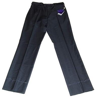 99f1c745b Ralph Lauren Polo Purple Label Mens Black Flat Front Dress Pants Cotton  Italy 30
