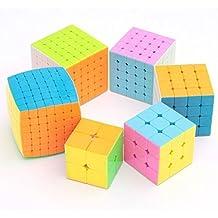 Qm-h 2x2x2 3x3x3 4x4x4 5x5x5 6x6x6 7x7x7 stickerless speed cube Rubik's puzzle