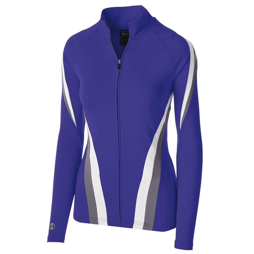 Holloway Dry Excel Ladies Aerial Semi Fitted Jacket (Small, Purple/Graphite/White) by Holloway