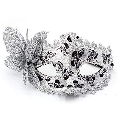Venetian Mask - Venetian Mask Venice Carnival Plastic Halloween Party Performance Silver - Plague Fox Halloween Rose Tree Nose Navy Costume Peacock Display -
