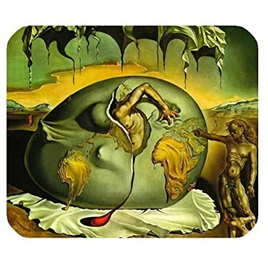 "Salvador Dalí obras, famosos cuadros cubierta de tela rectangular Ratón Pad 9.84 ""x7"