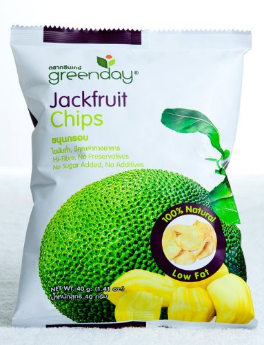 Greenday Vacuum-fried Jackfruit, Jackfruit Chips 100% Natural, Low Fat, Healthy Snack 40g. ()