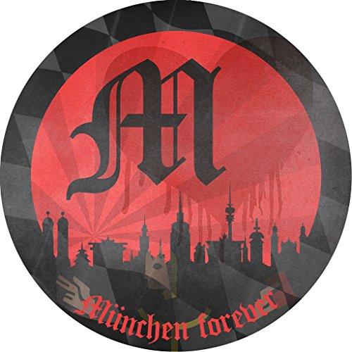FC Bayern München Weinglas 2er Set + gratis Sticker München forever