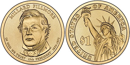 2010 P&D Millard Fillmore Presidential Dollar Set