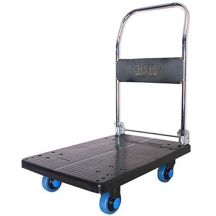d9ae08207bcf Amazon.com : YAXuan Hand Trolley, 150KG Folding Platform Hand Truck ...